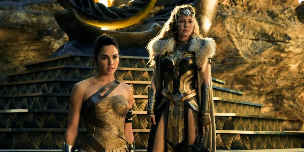Gal Gadot and Connie Nielson in Wonder Woman 2017