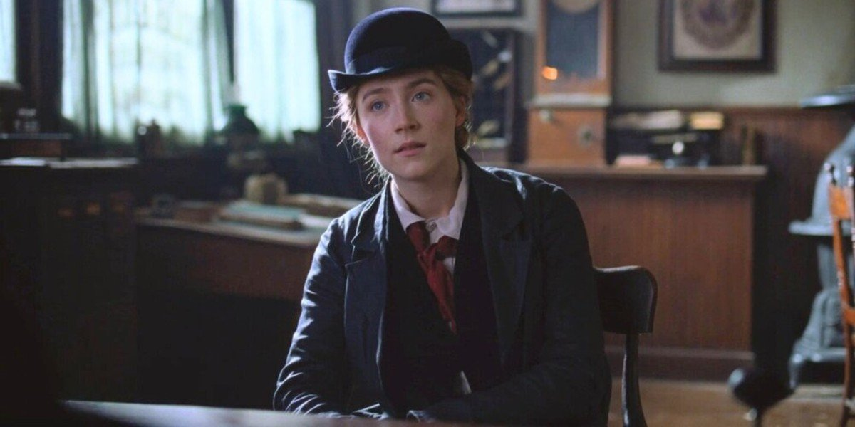 Saoirse Ronan in a hat in Little Women (2019)