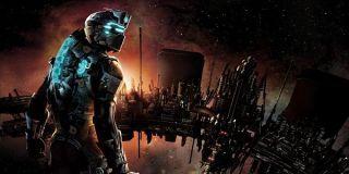 Isaac Clarke surveys some wreckage in Dead Space.