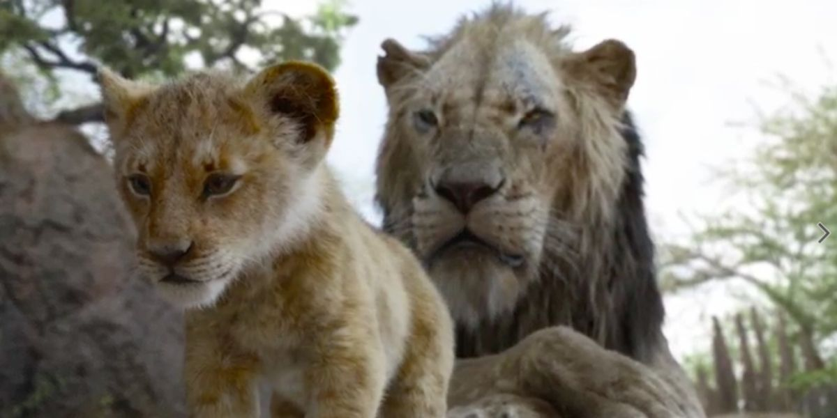 Simba and Scar in The Lion King