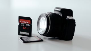 Camera and memory cards