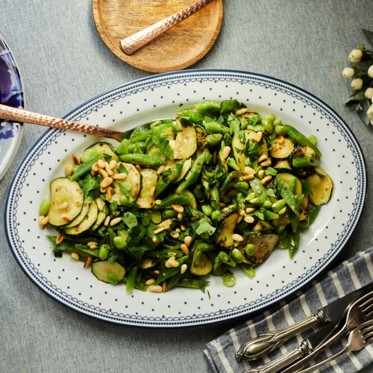 Bean Salad with Courgette