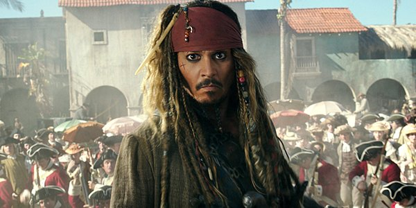 Johnny Depp as Captain Jack Sparrow in Disney's Pirates of the Caribbean