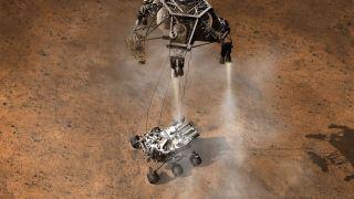 curiosity rover mars landing landed