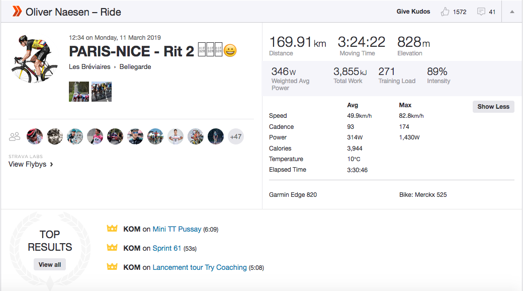 Tailwind means warzone': Strava stats give insight on fast and