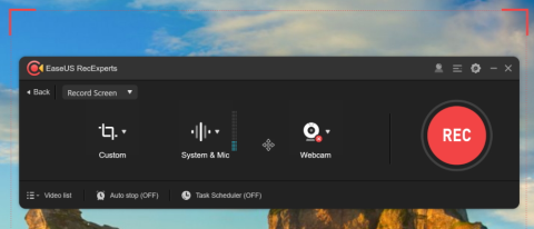 EaseUS RecExperts screen recorder