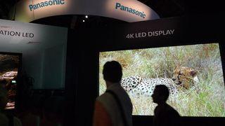 Panasonic 98 inch 4K Displays at NAB