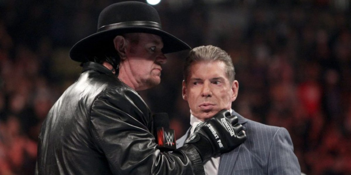 The Undertaker and Vince McMahon on Monday Night Raw