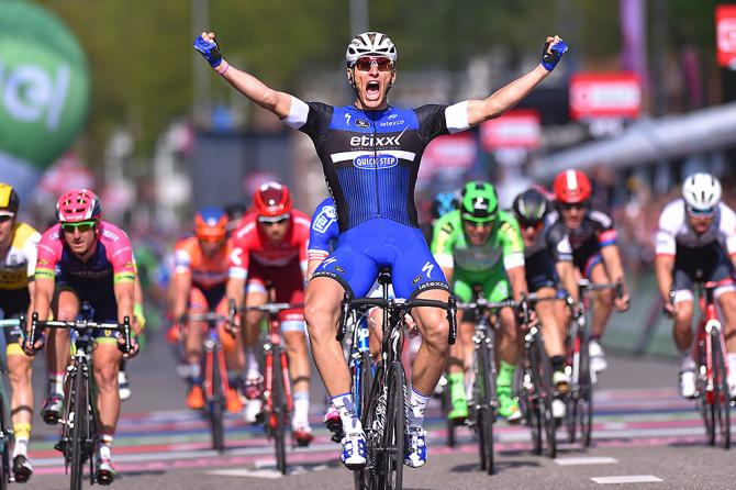 Marcel Kittel (Etixx-QuickStep) wins stage 2 at the Giro d'Italia