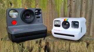 Polaroid Now vs Polaroid Go instant cameras