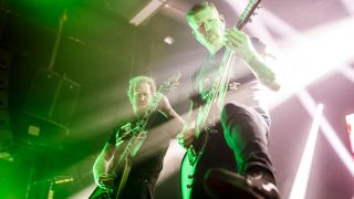 Brent Hinds and Bill Kelliher of Mastodon perform in concert at Razzmatazz on February 15, 2019 in Barcelona, Spain.
