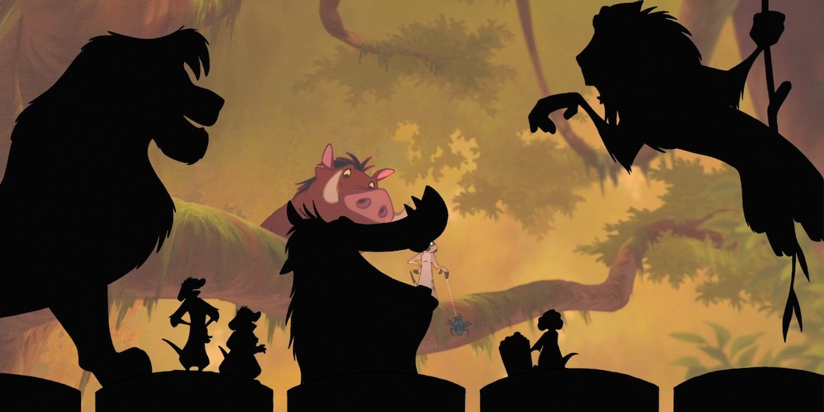 Timon and Pumbaa in Lion King 1 1/2
