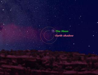 June 4, 2012 Partial Lunar Eclipse Sky Map