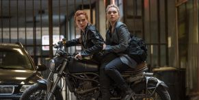 Scarlett Johansson And Florence Pugh Were Totally Surprised About Black Widow's Epic Motorcycle Stunt Scene