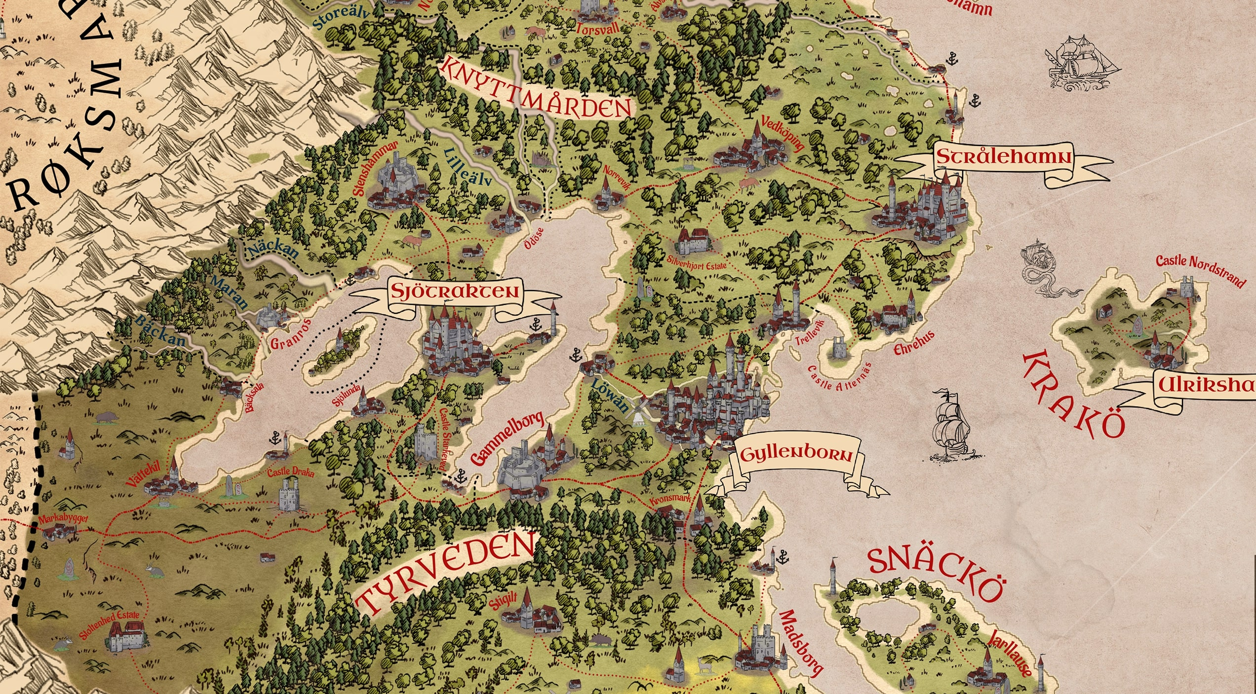 Create the fantasy map of your dreams with Wonderdraft