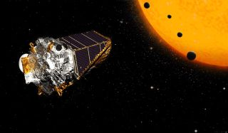 NASA's Kepler Space Telescope and exoplanets art