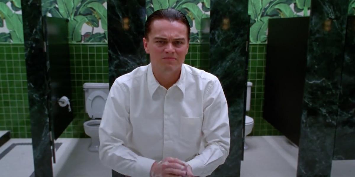Leonardo DiCaprio washing hands in The Aviator