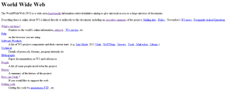 The first website ever.