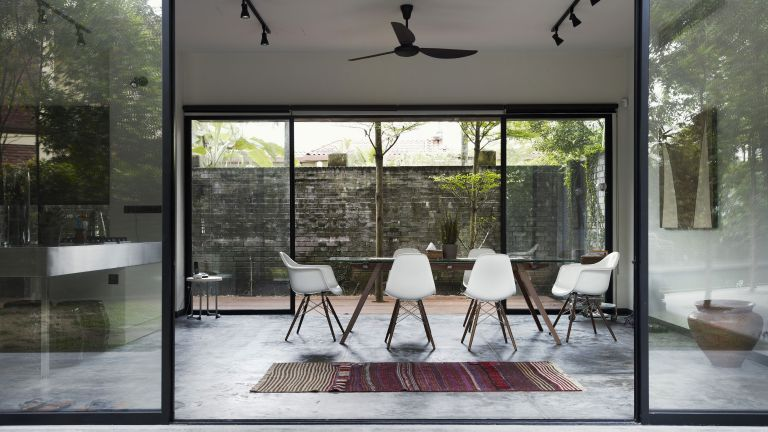 Renovations insurance: glass extension by getty images