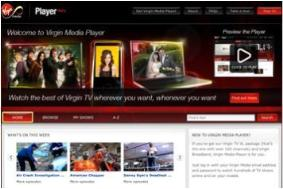 Virgin Media launches online and mobile catch-up TV player