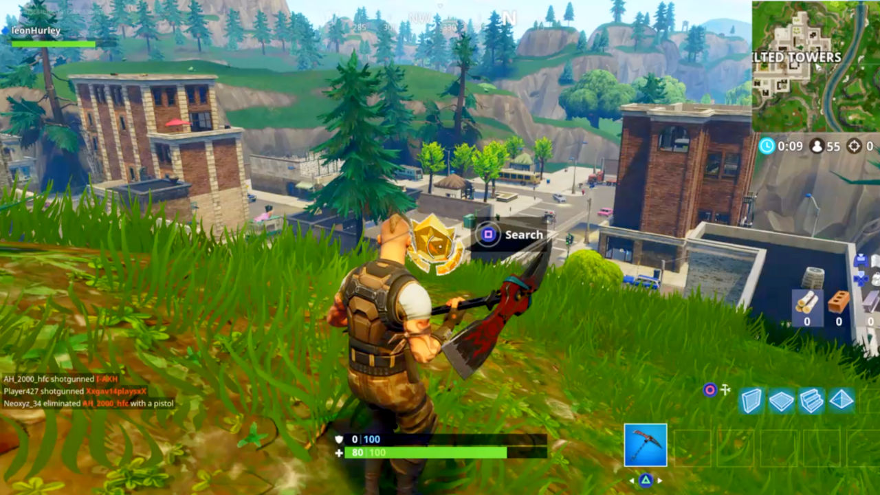 fortnite week 7 challenge follow the treasure map found in pleasant park gamesradar - fortnite follow the map in pleasant park