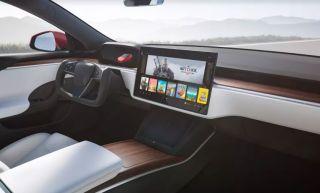 Tesla Model S Plaid steering wheel