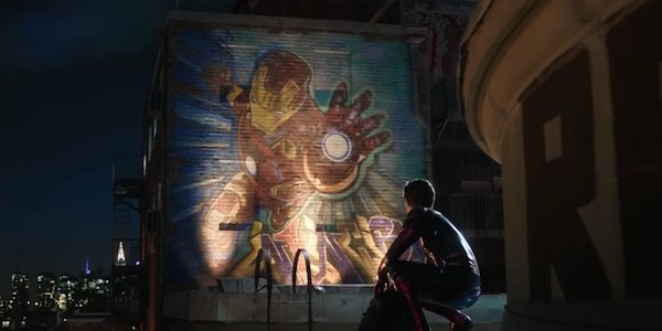 Tony's mural from Far From Home