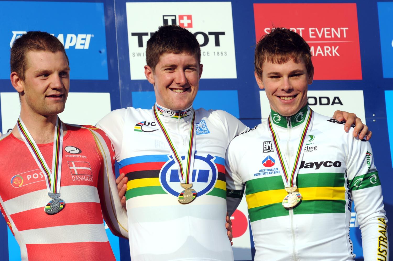 Luke Durbridge wins, under-23 men time trial, Road World Championships 2011