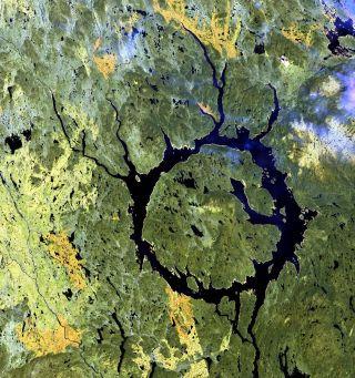Manicouagan crater