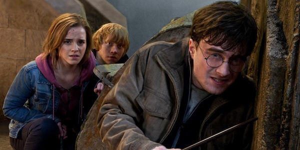 Harry, Ron, and Hermione in Deathly Hollows Part 2