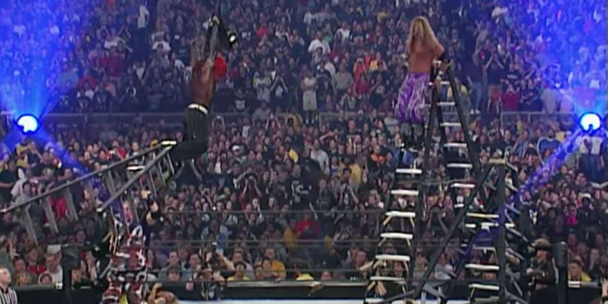 Jeff Hardy and Edge at WrestleMania 17