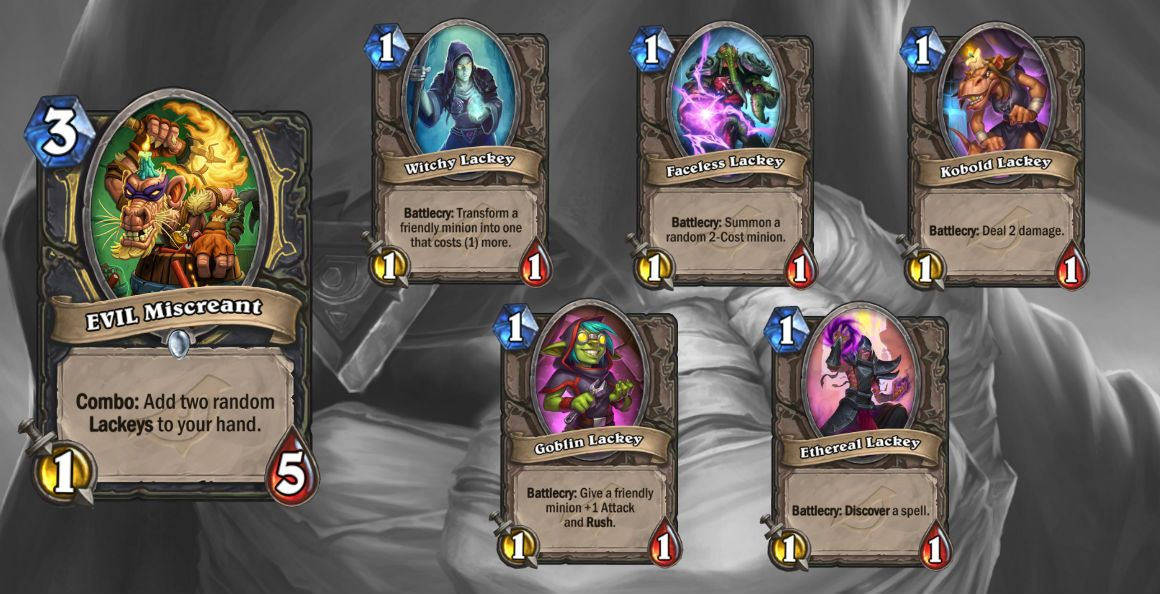 Hearthstone's next set is Rise of Shadows, see the first cards now