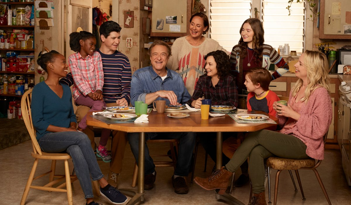 The Connors family gathered around the table