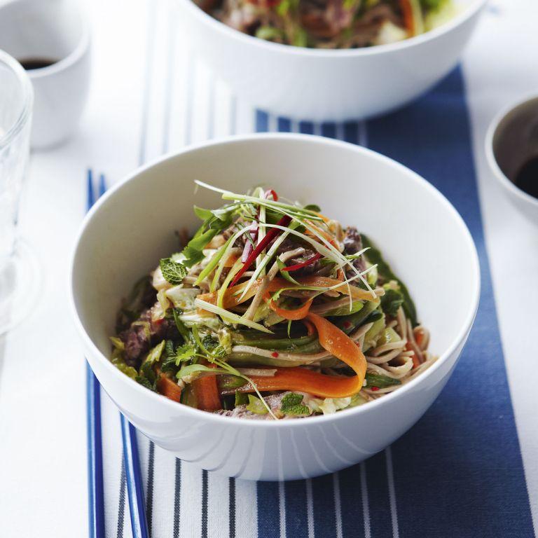 Asain food - Beef Noodle Salad - soba noodles - woman&home