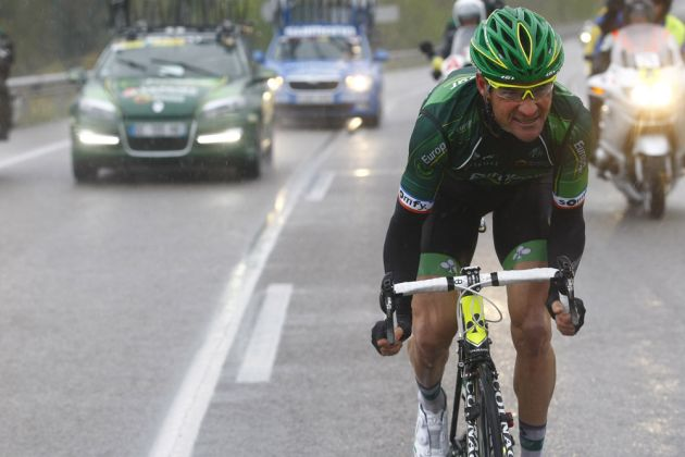 Thumbnail: Thomas Voeckler escapes on stage two of the 2014 Tour of Catalonia (Photo: Graham Watson) .