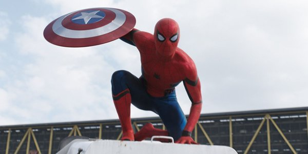 spidey with cap's shield