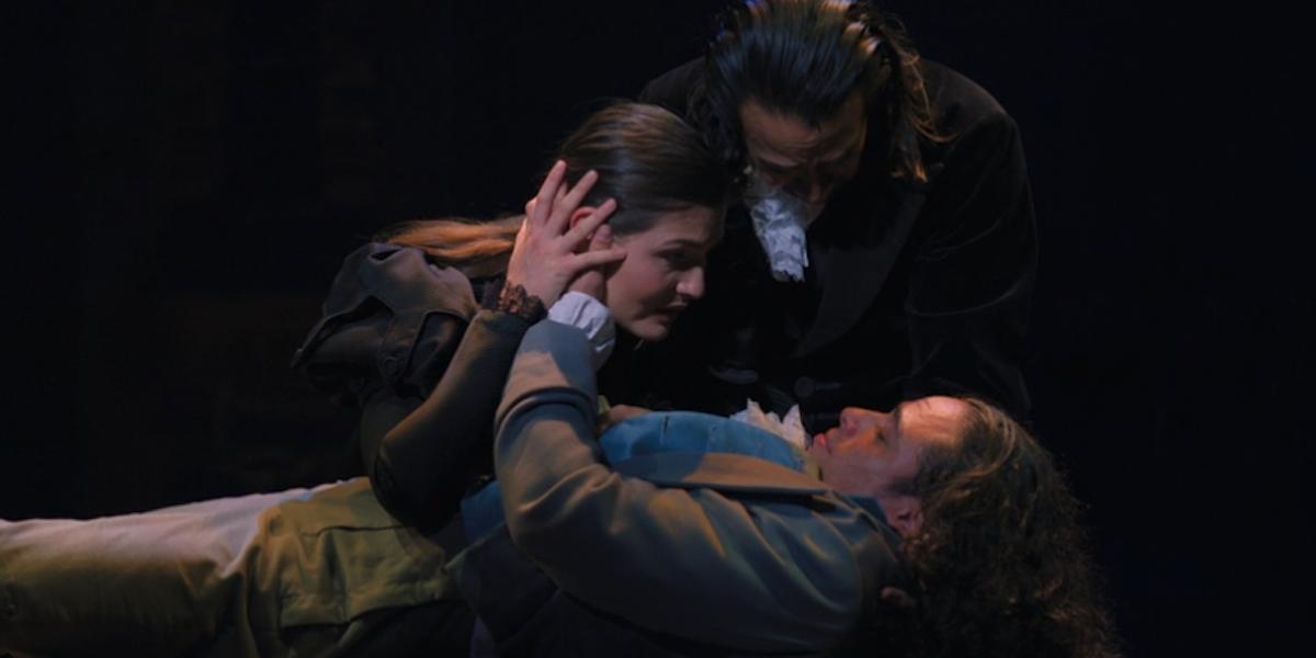 Eliza, Alexander and Philip Hamilton during Stay Alive Reprise Hamilton