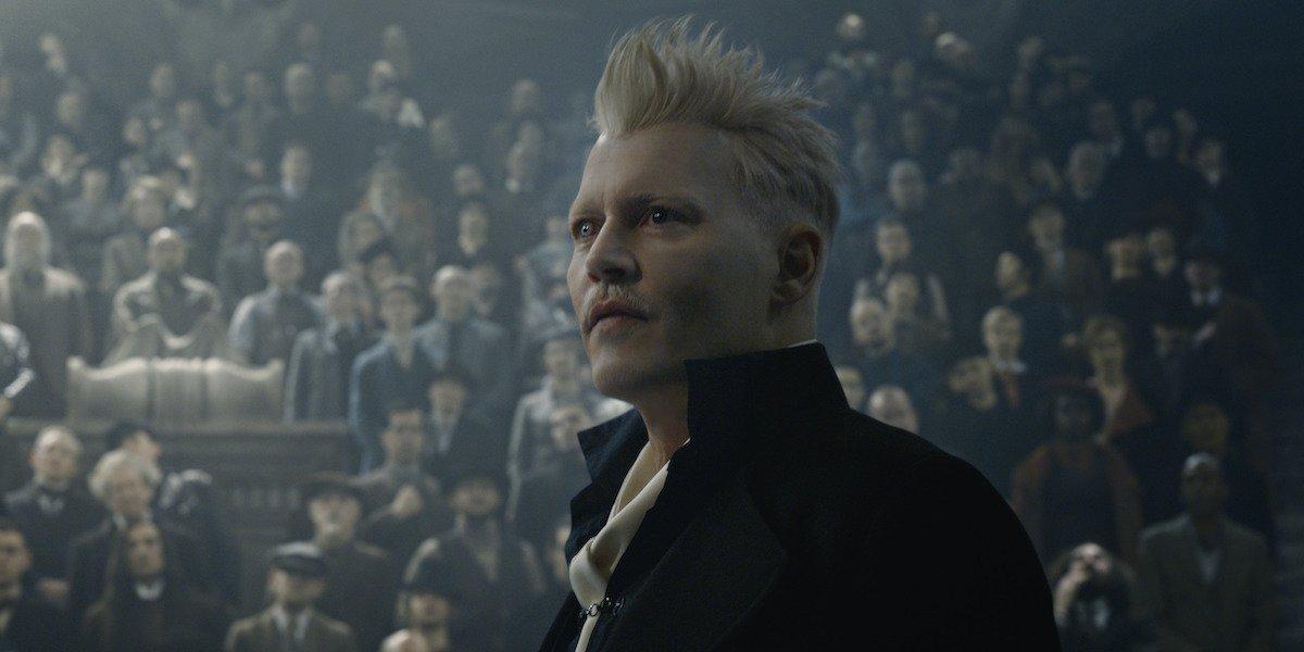 Johnny Depp as Gellert Grindelwald in Fantastic Beasts 2