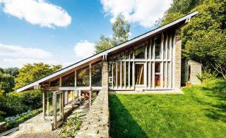 Sloping roof to 1960s home