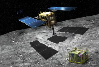 Hayabusa 2 Asteroid Mission artist conception