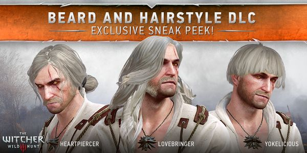 Geralt's joke hair options make him look like a band about to drop a fire first album