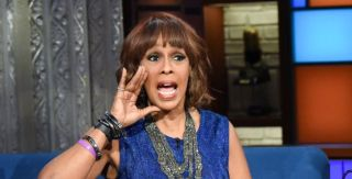 gayle king yelling on late night with stephen colbert