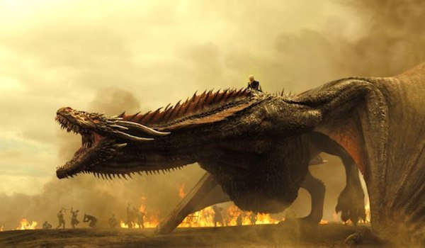 game of thrones dany drogon