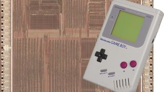 A Game Boy and the photo of its silicon