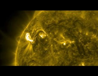 NASA's Solar Dynamics Observatory caught the powerful X-class flare that erupted on the sun on March 4.