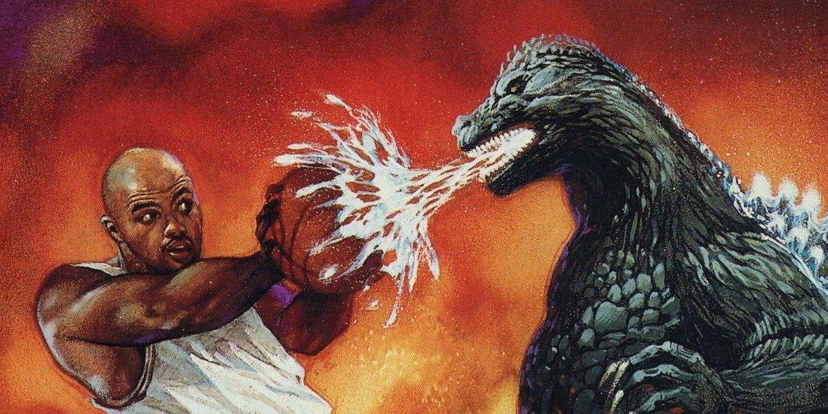 Charles Barkley vs. Godzilla