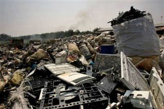 Improper disposal of e-waste is a growing environmental problem, especially in China and developing countries.