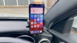 iOttie Easy One Touch 5 Smartphone Car Mount holding an iPhone