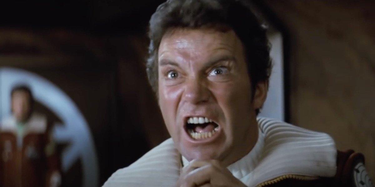 Star Trek II: The Wrath of Khan Kirk yells at Khan