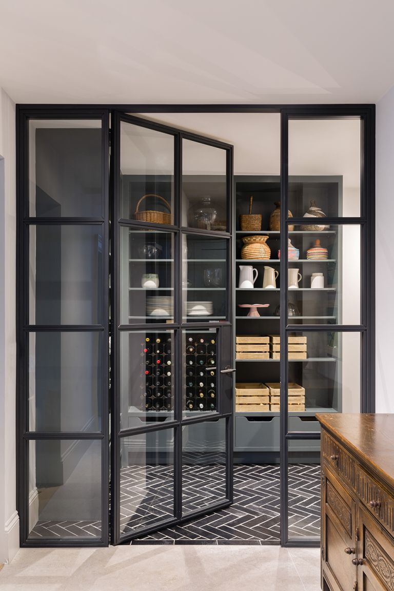 Pantry ideas - pantry with glass doors